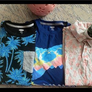 Gap , Old Navy 3 summer t shirts. For 10-12 y/o